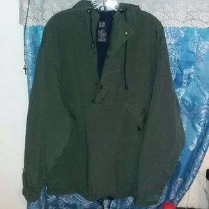 Gap Men Hooded Winter Jacket Medium Hunter Green